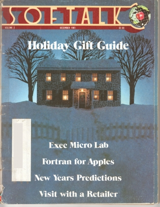 V2.04 Softalk Magazine cover, December 1981