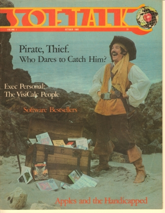 V1.02 Softalk Magazine cover, October 1980