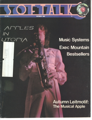 V1.03 Softalk Magazine cover, November 1980