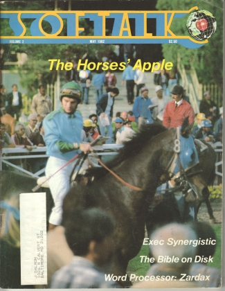 V2.09 Softalk Magazine cover, May 1982