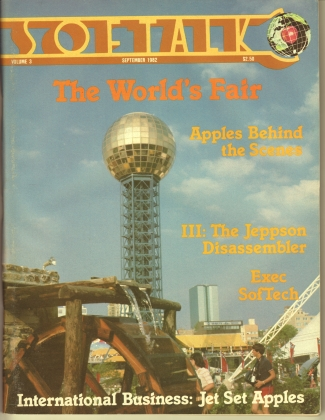 V3.01 Softalk Magazine cover, September 1982