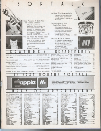 V3.06 Softalk Magazine contents, February 1983