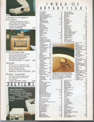 V4.02 Softalk Magazine contents 2, October 1983