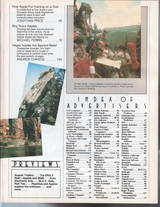 V4.11 Softalk Magazine contents 2, July 1984